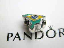 BN GENUINE AUTHENTIC RARE RETIRED PANDORA BRAZIL/BRASIL CHARM -791303ENMX
