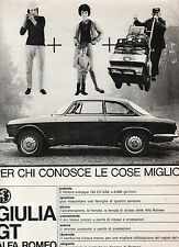 (AM) EPOCA964-PUBBLICITA'/ADVERTISING-1964- ALFA ROMEO GIULIA GT