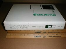 2008 Myers Park High School class Yearbook Charlotte NC North Carolina Mustang