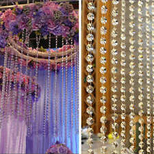 3M Acrylic Crystal Beads Garland Chandelier Hanging Wedding Party Table Decor