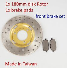 Front Brake Disk rotor & Brake pads for Yamaha BWS 100 100cc YW100 scooter moped
