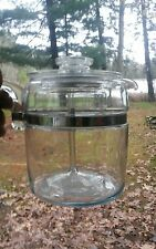 Vintage Pyrex Flameware Clear Glass 9 Cup Coffee Pot Percolator