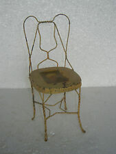 Old Iron Unique Shape Handpainted Small / Penny Chair Collectible