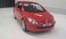 2001 Peugeot 307 XSI rouge kinsmart Jouet miniature 1/32 echelle Voiture
