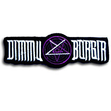 Dimmu Borgir Patch Iron on Biker Rock Band Logo Heavy Black Metal Music Sewing