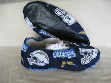 Men's Bowling Shoe Cover NFL Chargers. Handmade, Cotton, lined with vinyl soles