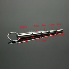 Stainless Steel NEW Penis Plug Male Urethral Sound STRETCHER DILATOR 140mm