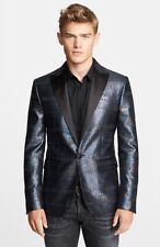 Dsquared2 Beverly Fit Metallic Single Button Evening Jacket Size 40 $2,375