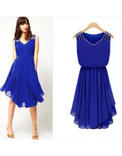 Women Blue Chiffon Dress