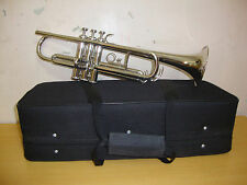 BAND DIRECTOR CHOICE! New Silver Bb FLAT Trumpet With Free Case+Mouthpiece