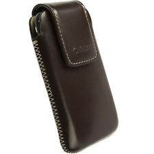 KRUSELL VINGA LEATHER CASE COVER POUCH FOR SAMSUNG GALAXY Y GT-S5360 - BROWN