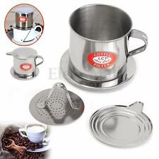 Practical Stainless Steel Coffee Drip Filter Cup Press Type Infuser Handle Maker