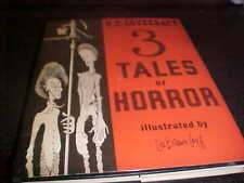 3 Tales of Horror H.P. Lovecraft Limited Edition Arkham House 1967 VG HC DJ