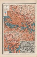 1920 MAP -WORLD WAR 1- WESTERN FRONT- CAMBRAI AND BOURLON WOOD