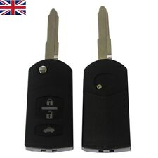 NEW 3 Buttons Remote Key FOB CASE and Uncut Blade For Mazda 2 3 5 6 RX8 MX5