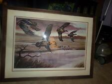 """KEN MICHAELSEN """"DAWN FLIGHT"""" PICTURE COA SIGNED FRAMED MATTED AUTHENTIC RARE!"""
