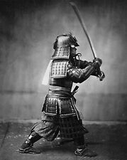Samurai Warrior With Sword, 1860,  Japan, Reproduction Photo 6x5 inches