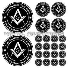 Masonic Vinyl Decal Sticker Freemason Emblems A03