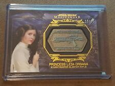 Topps Star Wars Masterwork Carrie Fisher as Princess Leia GOLD Medallion #10/10!