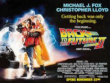RITORNO AL FUTURO 2 BACK TO THE FUTURE MANIFESTO STEVEN SPIELBERG MICHAEL J. FOX