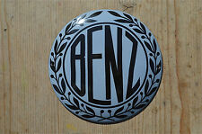 QUALITY ENAMEL ROUND GREY MERCEDES BENZ SIGN PLAQUE VINTAGE STYLE GARAGE WALL