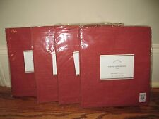 (4) NIP Pottery Barn Emery cafe curtains 50x36 red linen cotton *qty available