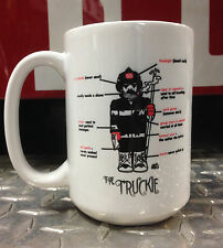 Truckie Firefighter Ceramic Coffee Mug / Cup - Perfect Firefighter Gift
