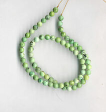 "HUBEI SHADED MINT GREEN TURQUOISE ROUND BEADS - 136C - 15.5"" Strand"