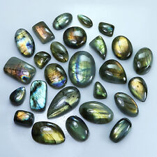 512.70Cts. NATURAL SPECTROLITE LABRADORITE FANCY CAB MULTI FLASH GEMS~LOT 26Pcs.