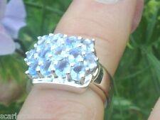 Anello d'argento con 2.21ctw Autentico tanzanites