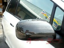 REAL GLOSSY CARBON FIBER SIDE MIRROR COVER 08-12 COROLLA E140 TRD ALTIS VITZ JDM