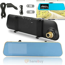 HD 1080P 4.3'' Car DVR Video Recorder Camera Rearview Mirror Dash Cam G-sensor