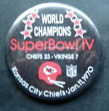 World Champions Super Bowl IV 4 Football PIN Jan 11 1970 Chiefs vs Vikings