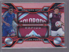 2014 Topps Chrome MLS One Two Red Refractor Dillon Powers Deshorn Brown 11/25