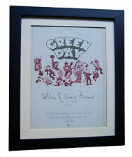 GREEN DAY+When Come Around+POSTER+AD+RARE ORIGINAL 1995+FRAMED+FAST GLOBAL SHIP