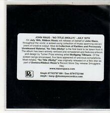 (DC575) John Maus, No Title (Molly) - 2012 DJ CD