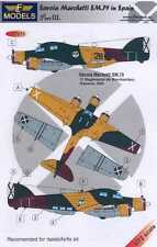 LF Models Decals 1/72 SAVOIA MARCHETTE SM-79 Spanish Air Force with Resin Wheels