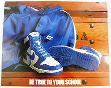 1985 NIKE Dunk Basketball Poster Be True To Your School Kentucy Wildcats BTTYS