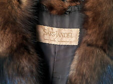 Vintage Saks-Jandel Mink & Fox Fur Collar Full Length Coat