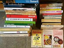 LOT 28 livres Grand format voyage, romans, cuisine, vie pratique, bricolage....