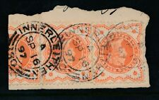 SCOTLAND INNERLEITHEN 1897 POSTMARKS SMALL DOUBLE RING on QV 1/2d JUBILEE