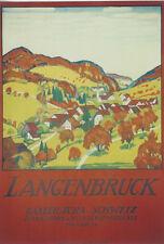 Original Plakat - Langenbruck, Basler Jura, Schweiz - Cardinaux E.