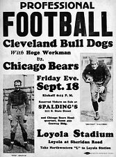 CLEVELAND BULL DOGS, NAGURSKI VS CHICAGO BEARS, GRANGE 8X10 PHOTO POSTER