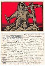 Helvetia, Bundesfeier Karte für die Schweizer Armee Soldaten  1940
