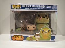 Funko Pop! Star Wars JABBA THE HUTT SLAVE LEIA & SALACIOUS B. CRUMB 3-PACK NIB