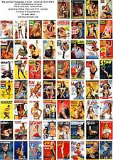 MORE PIN UP GIRLS  MAGAZINE COVERS (POST 1945)-60 ALL DIFFERENT A6 ARTCARDS