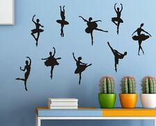 Set of 9 Ballerinas Girl Wall Stickers Decal Child Kids Vinyl Art Decor New