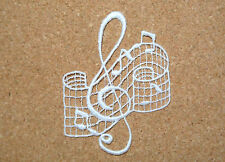 Lace motif - Music - Treble clef - applique/sew on trim/craft/card making