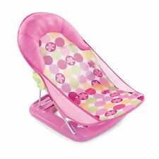 Deluxe Baby Bather Infant Bathtime Safe Head Cradle Support Foldable Seat Pink