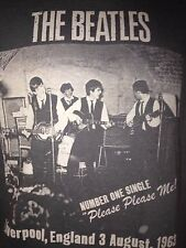 THE BEATLES PLEASE PLEASE ME LIVERPOOL MEDIUM t shirt    ROCK OUT OF PRINT